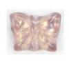 Glass Bead Butterfly 15x12mm Light Amethyst Aurora Borealis - Strung Top Hole